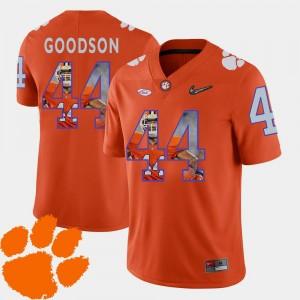 Men's Orange #44 Football Pictorial Fashion Clemson National Championship B.J. Goodson College Jersey