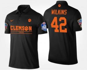 #42 Bowl Game Atlantic Coast Conference Sugar Bowl Mens Christian Wilkins College Polo Black Clemson