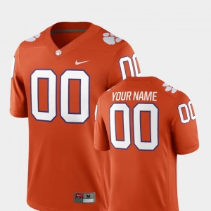 2018 Game #00 Mens Orange College Custom Jerseys Football Clemson