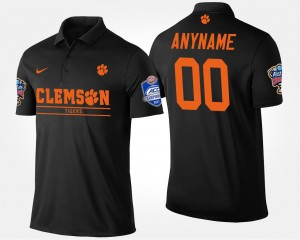 Black Atlantic Coast Conference Sugar Bowl College Customized Polo For Men Clemson #00 Bowl Game