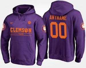 Purple Clemson College Customized Hoodies Men's #00
