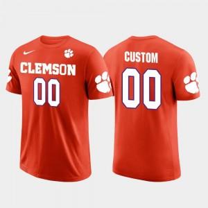 College Customized T-Shirts Cotton Football #00 Future Stars Mens Clemson National Championship Orange
