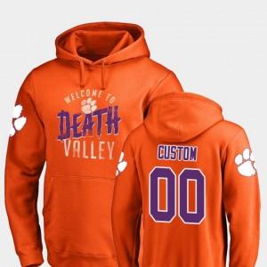 Clemson National Championship Orange Logo #00 Hometown Collection College Custom Hoodie Mens