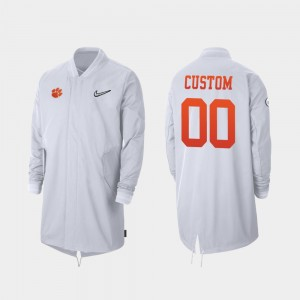 Clemson Tigers For Men's #00 College Customized Jacket Full-Zip Sideline 2019 Football Playoff Bound White
