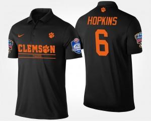 Men's Bowl Game CFP Champs Atlantic Coast Conference Sugar Bowl DeAndre Hopkins College Polo #6 Black