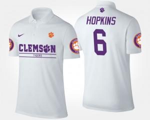 #6 White Clemson Men's DeAndre Hopkins College Polo