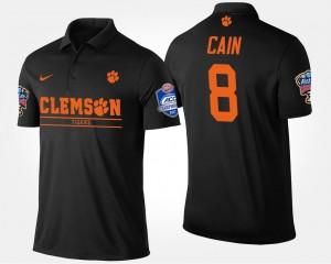 Black Men's Clemson University Bowl Game #8 Atlantic Coast Conference Sugar Bowl Deon Cain College Polo