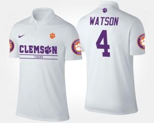 CFP Champs #4 Deshaun Watson College Polo White Men