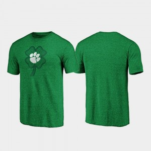 St. Patrick's Day College T-Shirt For Men Celtic Charm Tri-Blend Green Clemson National Championship