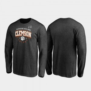 2019 Fiesta Bowl Bound Heather Gray College T-Shirt Men's Tackle Long Sleeve Clemson Tigers