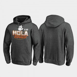 Heather Gray Football Playoff Defensive 2020 National Championship Bound Clemson College Hoodie Mens
