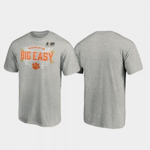 2020 National Championship Bound Post Football Playoff For Men College T-Shirt Heather Gray Clemson University