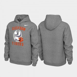 Clemson National Championship Pullover College Hoodie For Men Local Phrase Heathered Gray
