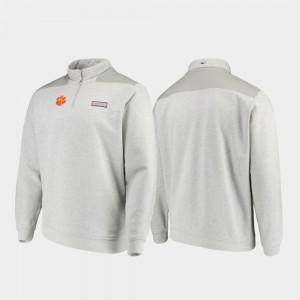 Shep Shirt Quarter-Zip CFP Champs College Jacket For Men Heathered Gray