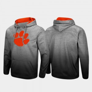 Sitwell Sublimated Heathered Gray Pullover Men's Clemson College Hoodie
