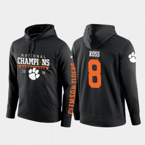 Justyn Ross College Hoodie Football Pullover Clemson Tigers Black 2018 National Champions #8 For Men