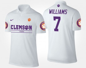 #7 Mike Williams College Polo Men Clemson Tigers White