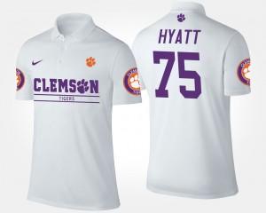 Mitch Hyatt College Polo White #75 Clemson For Men