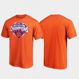 2019 ACC Football Champions Orange Clemson College T-Shirt Men's