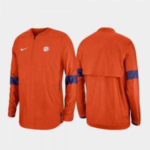 Orange Quarter-Zip College Jacket 2019 Coaches Sideline Clemson University For Men's