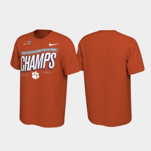 Orange 2019 Fiesta Bowl Champions Locker Room Football Playoff Clemson Men College T-Shirt