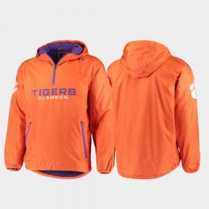 College Jacket Half-Zip For Men's Base Runner Orange CFP Champs