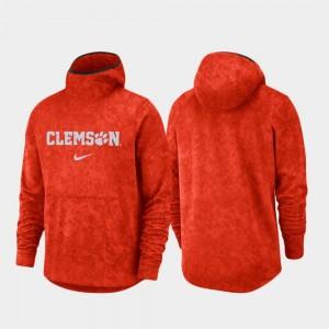 Basketball Team Logo Pullover Orange Spotlight College Hoodie Clemson University For Men