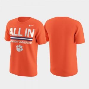 For Men Orange College T-Shirt Clemson National Championship Performance Local Verbiage