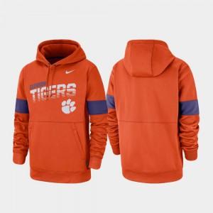 Performance College Hoodie Men Clemson University Pullover Orange
