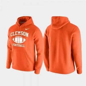Club Fleece Orange Clemson Tigers College Hoodie Men Retro Football