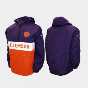Purple Half-Zip College Jacket Clemson National Championship Mens Alpha Anorak Pullover