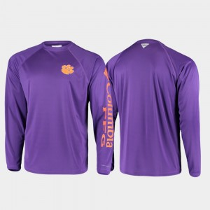 Men's CFP Champs Purple College T-Shirt PFG Terminal Tackle Long Sleeve Omni-Shade