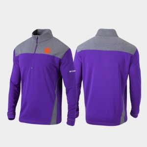 For Men Purple College Jacket CFP Champs Omni-Wick Standard Quarter-Zip Pullover
