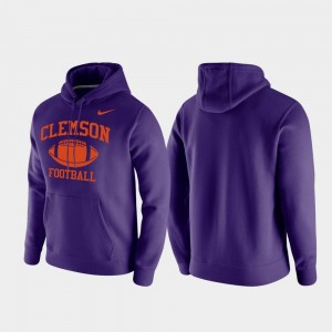 Retro Football CFP Champs College Hoodie Mens Club Fleece Purple