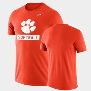 College T-Shirt Performance Softball Orange For Men Drop Legend Clemson National Championship