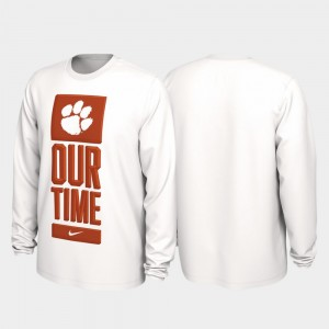 Clemson National Championship College T-Shirt White Our Time Bench Legend Men's 2020 March Madness