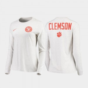 Clemson White Statement Long Sleeve Mens Rivalry College T-Shirt
