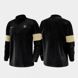 CU Half-Zip Performance Black Mens 2019 Coaches Sideline College Jacket