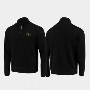 Men Buffs Sport Nassau College Jacket Black Half-Zip Pullover Tommy Bahama