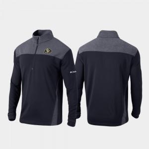 For Men's Colorado Buffalo Quarter-Zip Pullover College Jacket Omni-Wick Standard Black