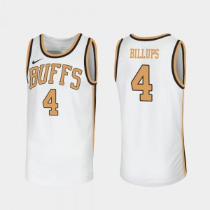 Sox Walseth-Era #4 Throwback Men's Chauncey Billups College Jersey White CU Buffs