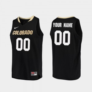 Black Replica Colorado Buffaloes #00 College Custom Jersey Mens Basketball
