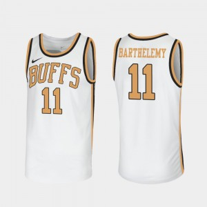 For Men Colorado Buffalo Keeshawn Barthelemy College Jersey White Throwback Sox Walseth-Era #11