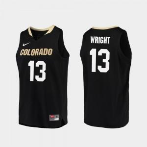 #13 Basketball Black Buffs Namon Wright College Jersey Replica For Men