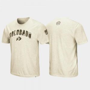 Oatmeal Men's College T-Shirt CU Desert Camo OHT Military Appreciation
