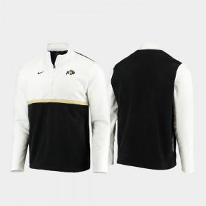 Buffs White Black Quarter-Zip Pullover Men Color Block College Jacket