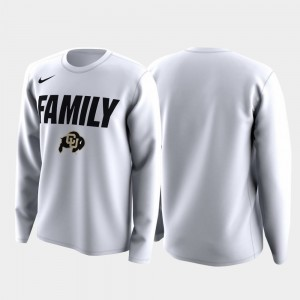 College T-Shirt Family on Court White For Men's CU Buffs March Madness Legend Basketball Long Sleeve