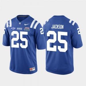 #25 Deon Jackson College Jersey For Men Royal Blue Devils 2018 Independence Bowl Football Game