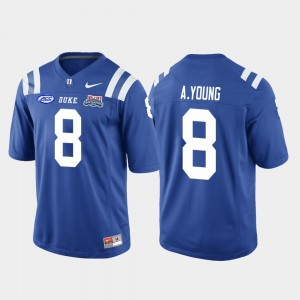 Football Game Royal Mens 2018 Independence Bowl #8 Aaron Young College Jersey Duke University