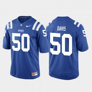 Royal Game Duke Blue Devils Austin Davis College Jersey Mens Football #50